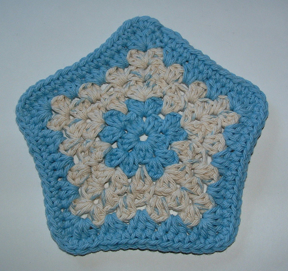 Crocheted Star Facecloth Pattern | My Recycled Bags.com
