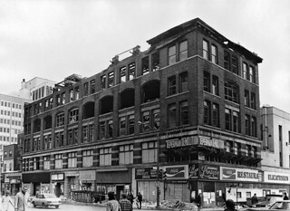 Building on SE corner, Guy & St. Catherine Streets, Montreal, 1974
