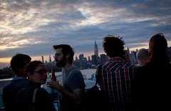 Drinking at The Ides - Wythe Hotel Rooftop, Williamsburg Brooklyn