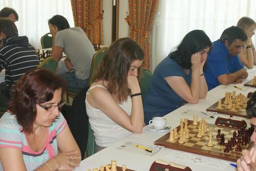 Les tres jugadores concentrades!