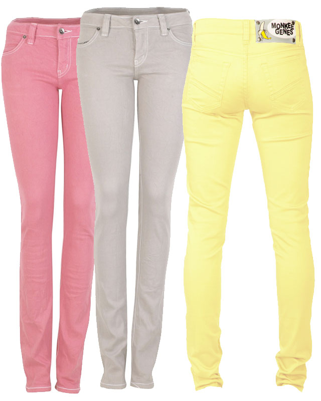 colored jeans, fair vanity fair trade, recycled cotton, tuesday trend, monkey genes, elsom jeans