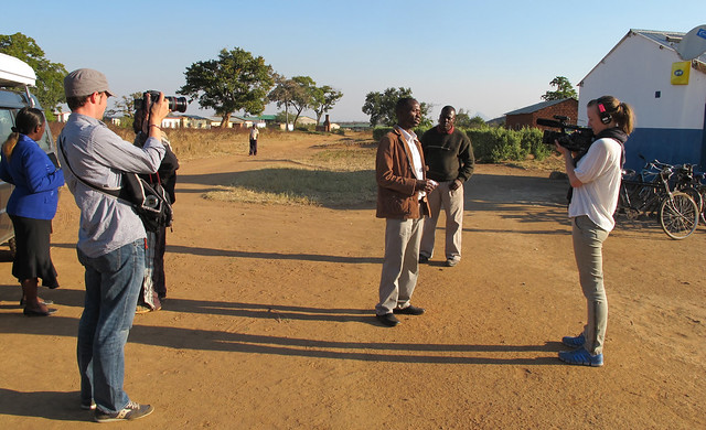 Filming in Kagoro