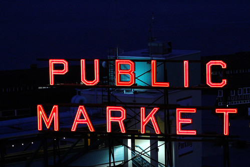 Pike Place Market - Illuminated Sign