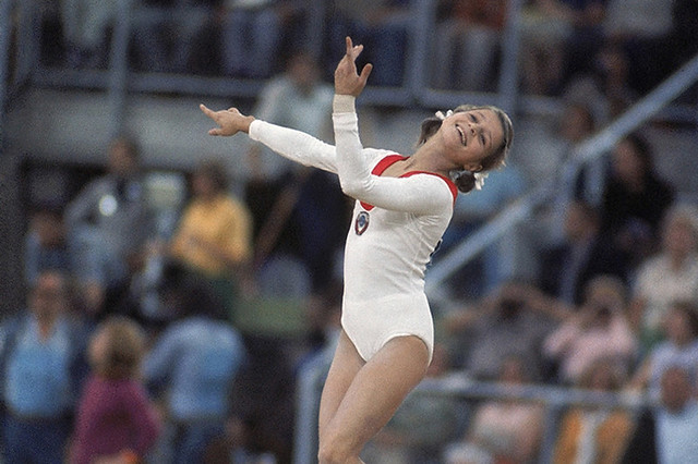 1972 Olga Korbut at the 1972 Summer Olympics ©Heinz Kluetmeier