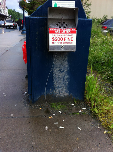 Juneau - Cigarette Butts Are Litter