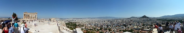 Athens Parthenon city view stitch