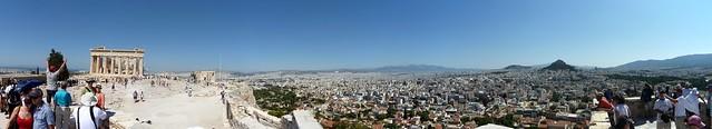 Athens Parthenon city view stitch