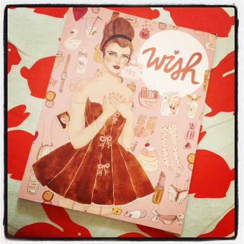 My copy of @wishwishwish magazine arrived - looks beautiful!