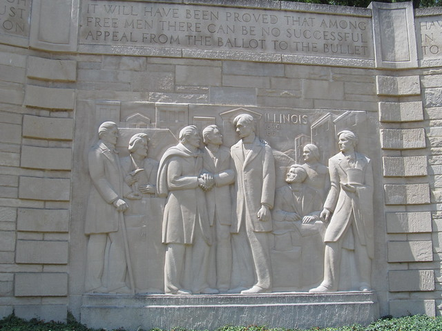 Memorial at Abraham Lincoln's boyhood home in Spencer County, Indiana
