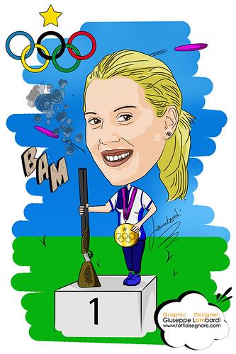 Caricatura Jessica Rossi by Giuseppe Lombardi