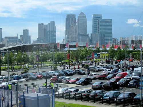 Canary Wharf - from the Peninsula car park