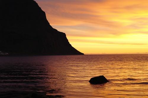 sunset iceland bolungarvík