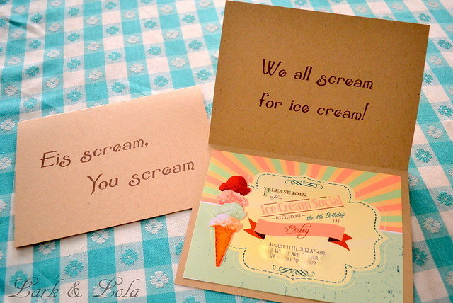 Eis Cream You Scream invite