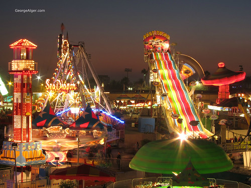 County Fair Midway, by George Alger