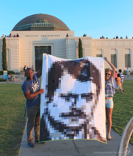 Ron Swanson quilt along - Griffith Observatory
