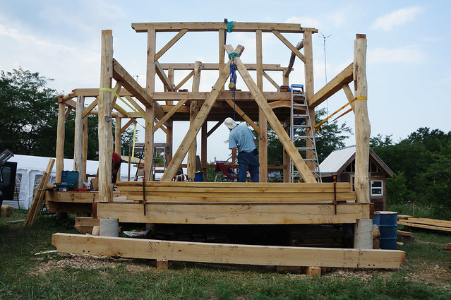 Timber Frame Porch Beam Explore The Year Of Mud 39 S Photos