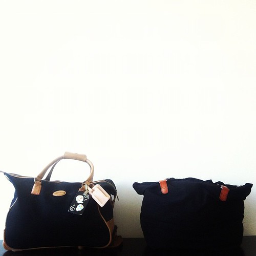 My freakin' travel essentials: these bags are way huger in reality.