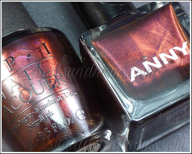 ANNY 'The Answer Is Love' vs. OPI 'Every Month Is Oktoberfest'