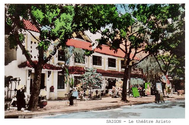 SAIGON - Le théâtre Aristo (Trung Ương Hí Viện), đường Lê Lai