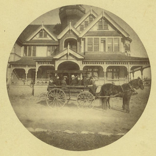 Bus at Sumner Hall in 1890