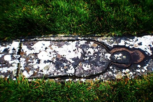 Ancient Burial Marker at Trumpan Church