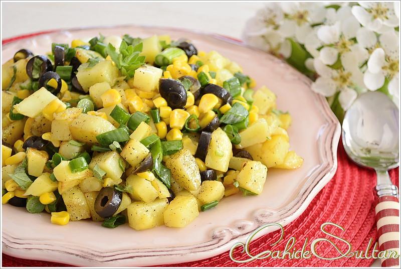 Zeytinli Mısırlı Patates Salatası1