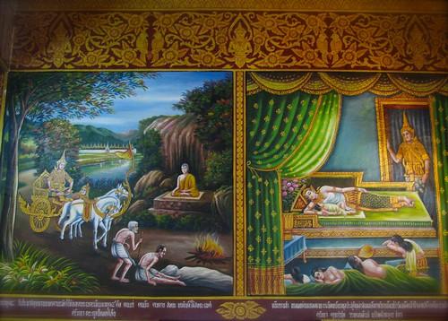 Historia de Buda en las paredes