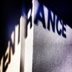 Entrance(d) #text #type #surreal #shadow #light #streetphotography #vagabond