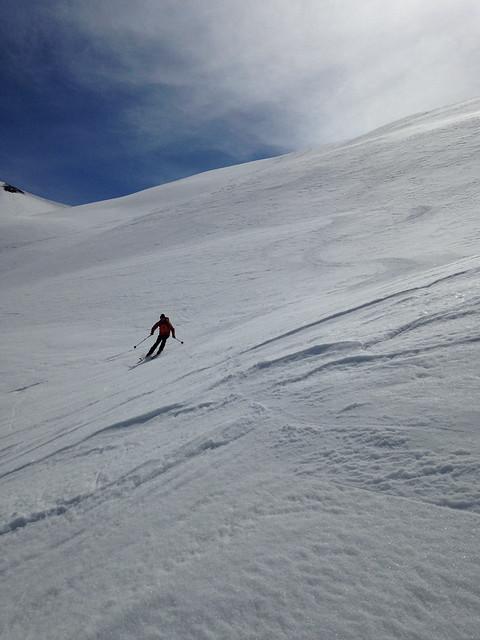 Début de la descente, super ski !
