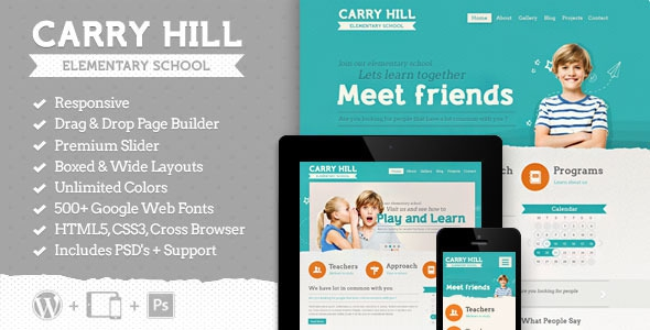Carry Hill School v2.1.1 - Responsive Wordpress Theme