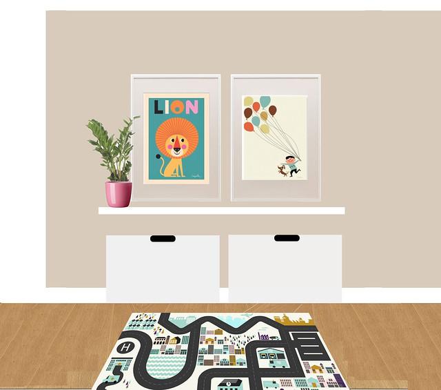 Wall 1 in Viggos room