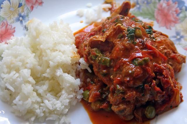 Pollo a la Portuguesa con Arroz