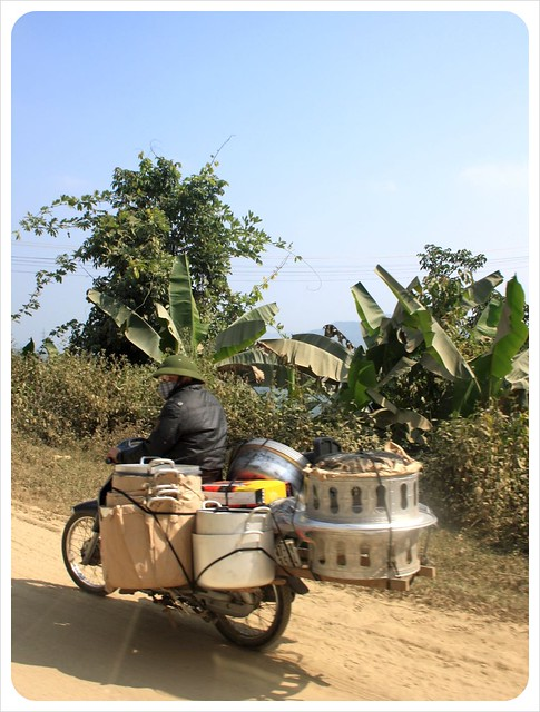 motorbike with pots & pans