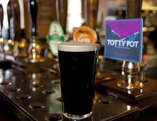 A delicious pint of Cheddar Ales - Totty Pot Porter. The history of stout is understandably inter-twined with porter.