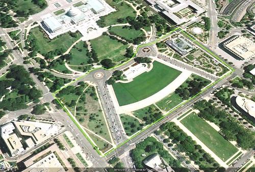 Union Square today (via Google Earth)