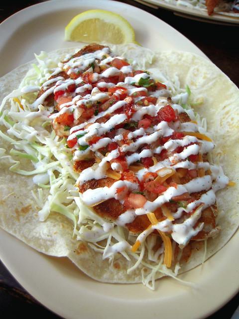 Grilled Sturgeon Taco