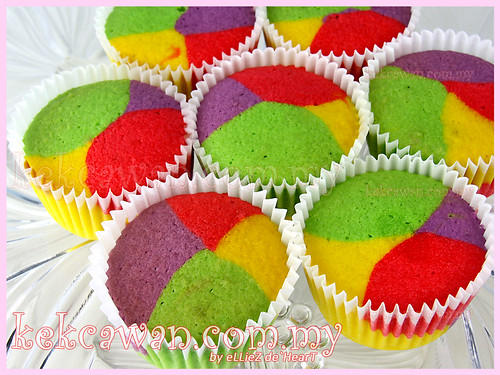 Rainbow Butter Cupcakes