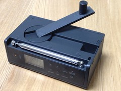無印良品の手回し充電ラジオ