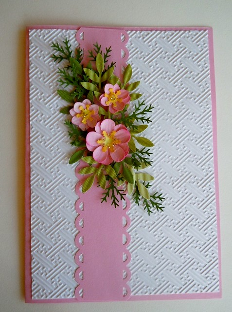 paper punch floral christmas card flickr   photo sharing