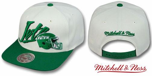 e81cd03b68c ... NFL Mitchell & Ness - New York Jets 2T Vice Snapback Hats - White/Green