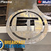 "BT Logo cut out of 1/4"" Mild Steel, featured on City TV's Breakfast Television"