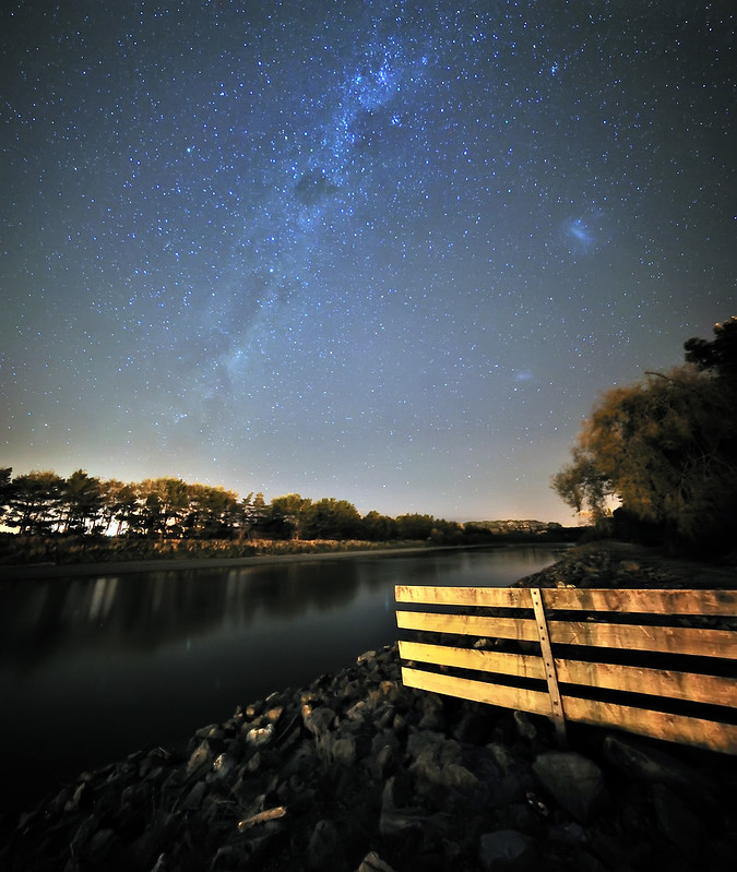 Vertorama | Milky Way over Manawatu River