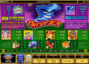 Twister Slots Payout