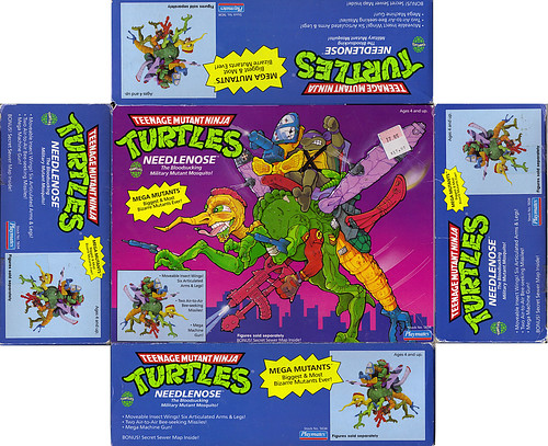 """MEGA MUTANTS"" TEENAGE MUTANT NINJA TURTLES :: NEEDLENOSE ..box i (( 1990 ))"