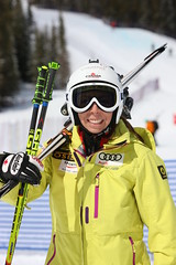 Danielle Poleschuk out to support her teammates at the Sport Chek Ski Cross Canadian Championships in Nakiska.