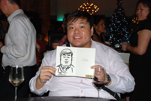 caricature live sketching for DVB Christmas party - 8