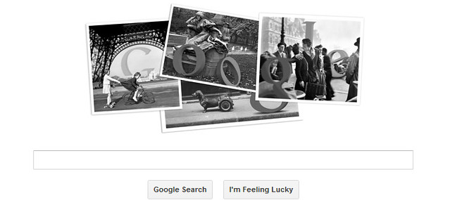 Robert Doisneau on Google Doodle