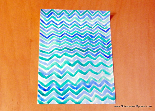 Freehand Chevron Pattern