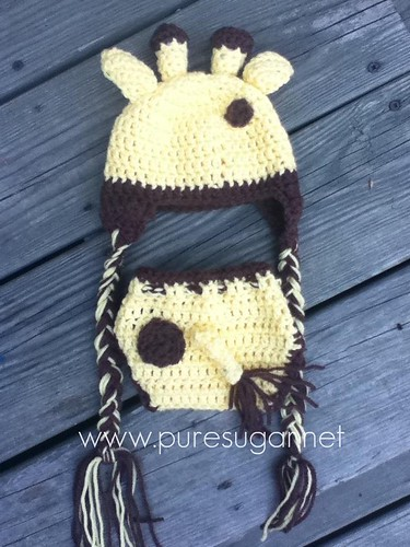 giraffe baby set - back