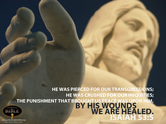 """Isaiah 53:5 Desktop Background """"By His Wounds We are Healed"""""""